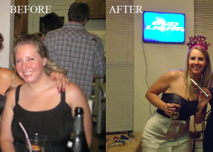 personal training client Brittany's weight loss before and after image