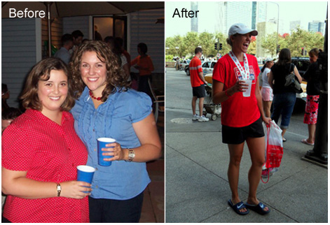 transform personal training client kristin's before and after weight loss image